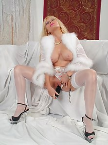 mature angelic chick in fetching lingerie