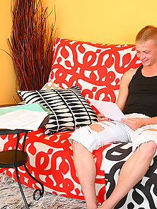 Pretty teen blonde chick gives a head and gets banged.