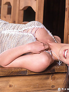 Dazzling Horny Vanessa Lane Shows Her Flexible Body with Smiling Face