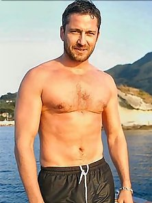 Fashion and red carpet pics of buffed up Spartan Gerard Butler