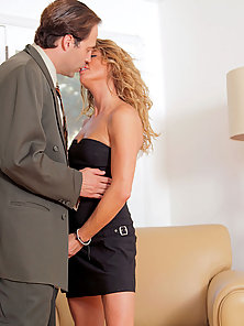 Horny cougar Amanda Blow has her mature pussy pounded by a stiff cock