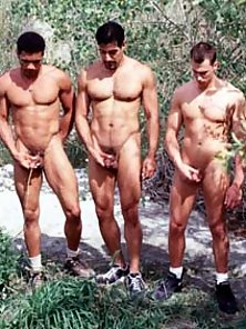 Horny latino studs line it up and fuck each others in a row