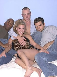 Ebony and ivory bisexuals in lustful sex orgy session