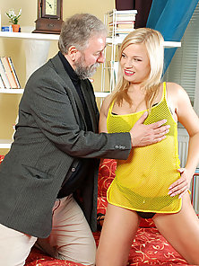 Horny blonde Anilos milf gives a skilled blowjob and gets banged by a lucky old man