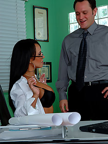 Naughty Mariah teases her boss with tight pussy