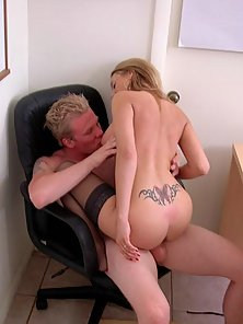Sexy Lexie slides the counselors dick in her wet juicey slit