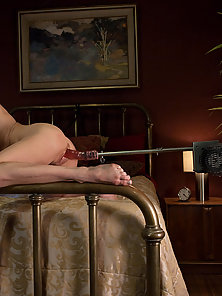 MILF SQUIRTER ALERT - pin-up beauty - mom squirts high into the air from machine fucking. Her juicy