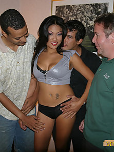 Regular schmucks fucking a hot pornstar