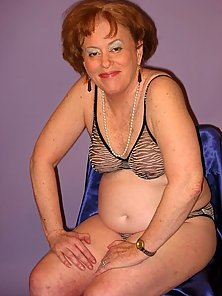 Fat granny showing off assets