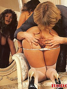 Stunning hairy classic lady in stockings fucked