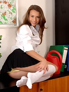 Smoking Hot Secretary Pleases The Boss