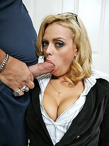 BIg titted office girl fucked by Ron Jeremy