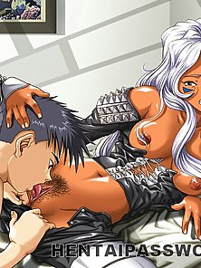 Provocative hentai bitch getting tight cunt licked by a handsome stud