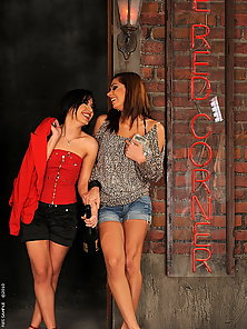 Lesbian babes dildoing with a bottle of champagne