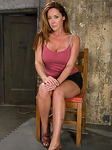 Glamour model Christina Carter bound, tortured and made to cum.