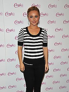 Hayden Panettiere wearing different short and sexy outfits