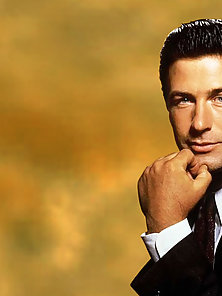 Glamour and fashion photos of the manly man Alec Baldwin