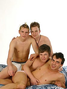 Orgy boys sharing with each other yummy meat
