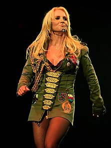 Pop sensation Britney Spears wearing different concert outfits