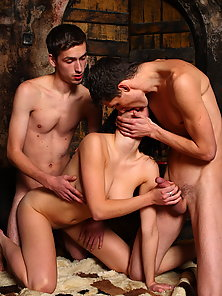 Lana and Kristof, Lukas on hot photo