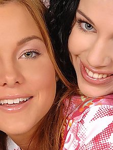 Horny babes in lesbian romp
