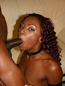 Tiny tit dark chocolate whore gets pussy ravaged by black cock
