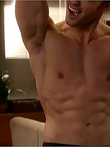David Gregory showcasing his chiseled body during work out