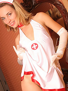 Real amateur nurse flaunting her great body and waiting a cock in her