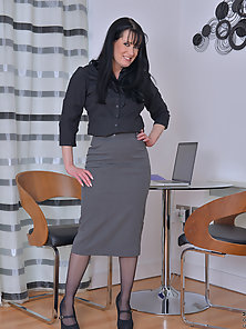 Naughty secretary with a big juicy ass shows you what is under her clothes