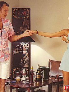 Asian seventies hooker pleases a white tourist his cock