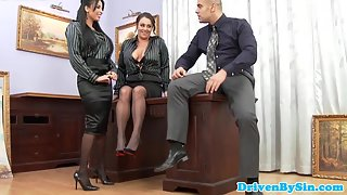 Stocking Wore Busty Secretary Gets Hard Anal Railed with Huge Excitement