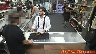 Straight Dude Got Cash in Return Pounded Hard His Ass inside Pawnshop
