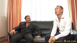 Big Tits Blonde Chick Double Penetrated by Two Hunky Guys in Threesome