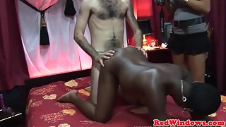Horny Ebony Greatly Banged By White Man