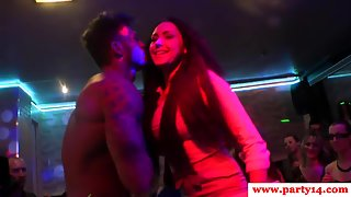 Stunning Babes Sucking Cocks in Night Party