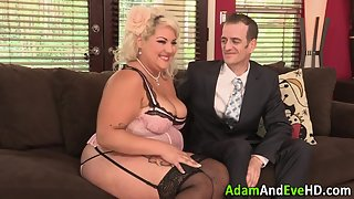 Pink Lingerie Wore Hot BBW Gets Sucked and Fucked Hard