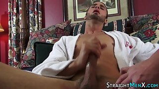 Masturbating Handsome Guy Enjoys Cumload