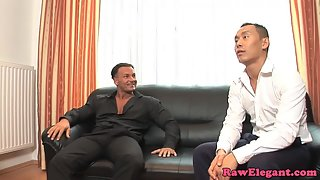 Glass Wore Blonde Jessica Moore Gets Deep Penetrated by Two Erected Hungry Poles
