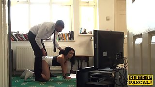 Brunette Lady Banged by Her Partner in Doggy Style
