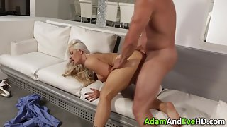 Blonde MILF Getting Banged by Fat Cock in Various Position