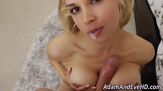 Horny Blonde Hooker After Blowjob and Boobjob Gets Doggy Style Banged