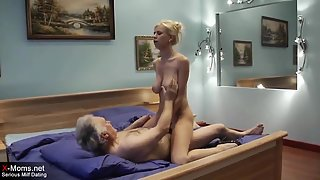 Bustuy Blonde Chick Get Pounded by Old Dude for Some Money
