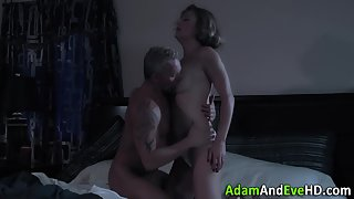 Stunning MILF Gets Boobs Suckled and Pussy Rammed with Excitement
