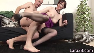 British MILF Having Juicy Tits Spunked In Mouth after Doggystyled Fuck