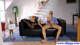 Stockings Amateur Babe Banged Hard by Old Teacher
