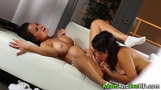Marvelous Lesbians Licking and Fingering Each Other Hungry Snatch
