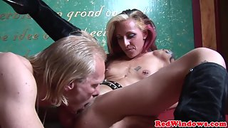Tattooed MILF Hugely Railed by Her Partner after Licked