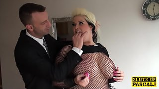 Fat Babe in Fishnets During Rough Fucking Moaning with Huge Romance