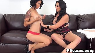 Lesbian Babes Dana Vespoli and Missy Martinez Drilling their Cunt by Using Dildo