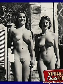Naughty Vintage Ladies Show Their Naked Bodies in Open Sky